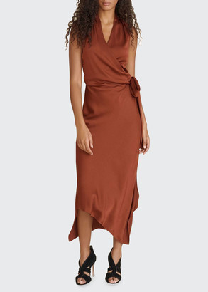 Veronica Beard Briony Asymmetric Wrap Dress