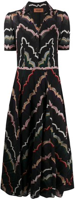 Missoni Button Down Woven Pattern Dress