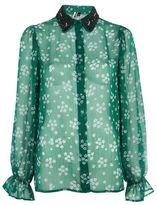 Topshop Beaded collar shirt