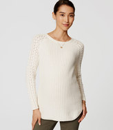 LOFT Maternity Cable Sleeve Sweater