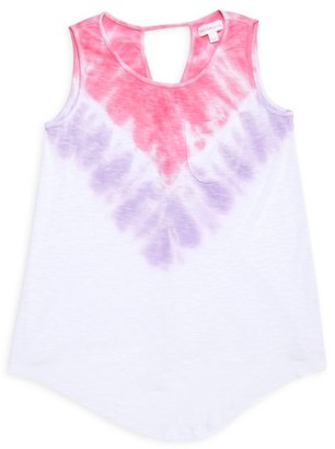 Design History Little Girl's & Girl's Tie-Dye Tank Top