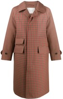 MACKINTOSH check pattern single-breasted coat