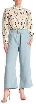 SWEET RAIN Corduroy Waist Belt Pants
