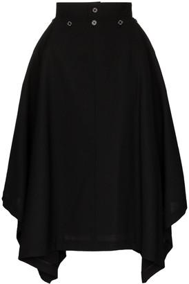 Hyke Aline high-waist midi skirt