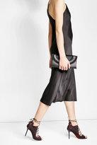 Diane von Furstenberg Leather Clutch with Calf Hair