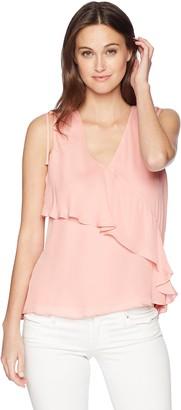 Parker Women's Warnen Sleeveless Tiered Silk Blouse
