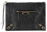 Balenciaga Classic Pouch Metallic Edge Leather Clutch