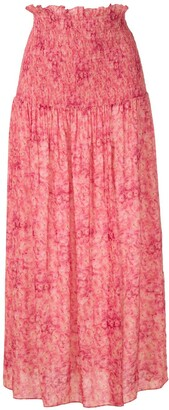 Adriana Degreas Floral Midi Skirt