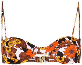 Dodo Bar Or Morgan floral print bikini top