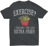 Humör Exercise? I Thought You Said Extra Fries! Graphic T-Shirt (XL, )