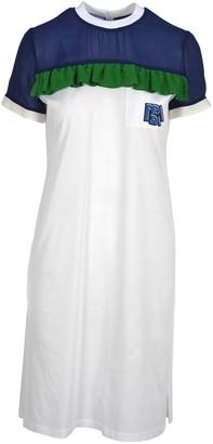 Prada Ruffled Detail T-shirt Style Dress