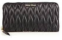 Miu Miu Women's Matelassé Leather Zip Wallet