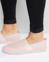 Asos Slip On Sneakers in Pink With Elastic