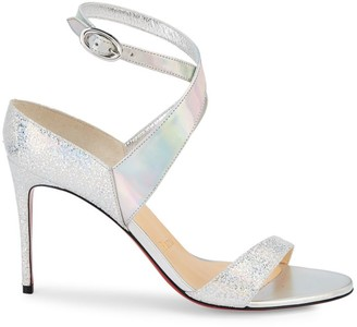 Christian Louboutin Open Liloo Glitter Leather Sandals