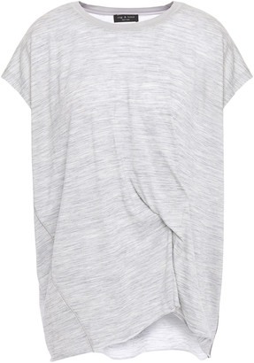 Rag & Bone Twisted Melange Wool-blend Jersey T-shirt