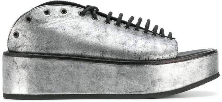 Ann Demeulemeester metallic platform sandals