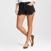 Mossimo Women's High-rise Shorts with Raw Hem Black
