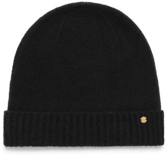 Mulberry Cashmere Hat Black Cashmere