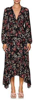 A.L.C. Women's Stanwyck Floral Silk Dress - Black