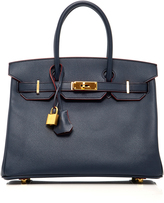 Heritage Auctions Special Collections Herms 30cm Blue Marine Epsom Leather Contour Birkin