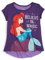Mighty Fine Toddler Girl's Disney's The Little Mermaid - Believe In Magic Graphic Tee
