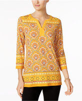 Charter Club Split-Neck Tunic, Only at Macy's