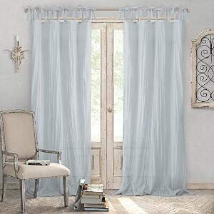 Elrene Home Fashions Jolie Semi-Sheer Pleated Curtain Panel, 52 x 84