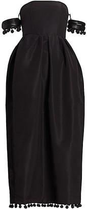 Rosie Assoulin Bangles & Bobbles Silk Cocktail Dress