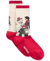 Hot Sox Women's Gramps and the Snowman Socks