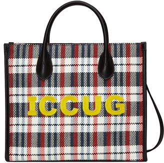 Gucci Small tote with ICCUG embroidery