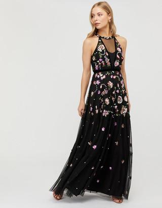 Under Armour Cara Floral Sequin Maxi Dress Black