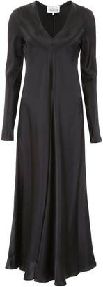 Maison Margiela Long-Sleeve Flared Gown