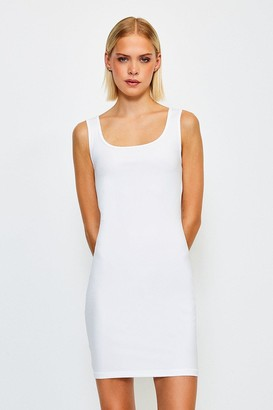 Karen Millen Smooth Essential Scoop Neck Slip Dress