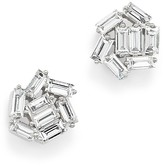 Bloomingdale's Diamond Baguette Cluster Stud Earrings in 14K White Gold, .55 ct. t.w.