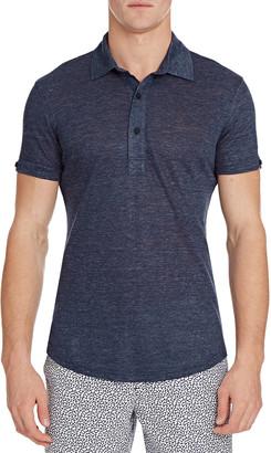 Orlebar Brown Men's Sebastian Melange Linen Polo Shirt