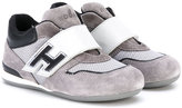 Hogan straped sneakers - kids - Leather/Suede/Nylon/rubber - 21