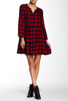 Angie Plaid Babydoll Dress