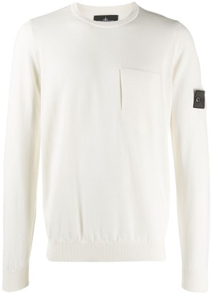 Stone Island Shadow Project Logo Patch Knit Jumper