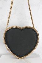 Rare Black and Gold Heart Chain Detail Bag