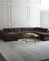 Old Hickory Tannery McLain Gray 3-Piece Left-Arm Chaise Sectional