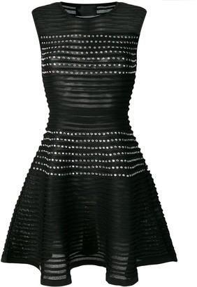 Philipp Plein Studded Pleated Dress