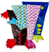 Berkshire Cuddly Buddies Velvety Plush Footie Tails, Mermaid, Dragon and Dinosaur Tail