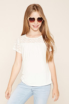Forever 21 FOREVER 21+ Girls Embroidered Top (Kids)