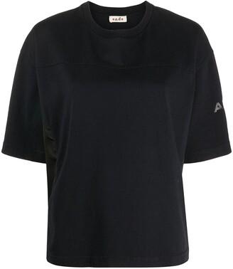 Alberto Biani nylon-panelled T-shirt