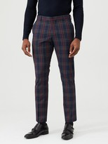 Selected Tartan Mylo Suit Trousers - Navy Check