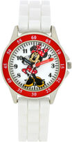 Character Girls White Strap Watch - MN1160JC