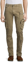 Belstaff Mallison Garment-Dyed Cargo Jeans, Birch