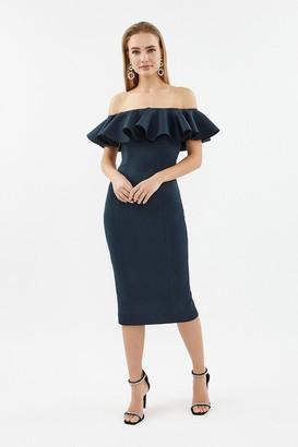 Coast Frill Scuba Bardot Dress