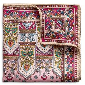 Eton Floral Castle Silk Pocket Square