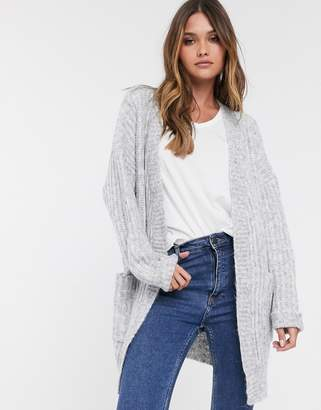 Y.A.S chunky knitted cardigan-Grey